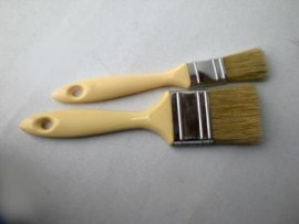 Brush, layup, plastic handle